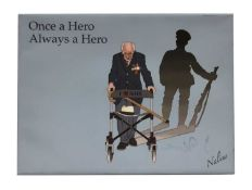 Once a Hero, Always a Hero Print on canvas