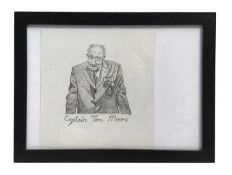 Pencil portrait of Sir Captain Tom Moore