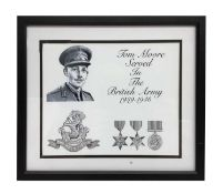 Photographic print of Captain Tom in British Army, with medals
