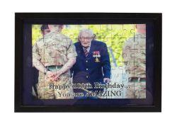 Framed jigsaw puzzle of Sir Captain Tom