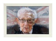 Union Jack photograph of Sir Captain Tom