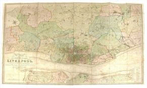 LIVERPOOL: LARGE-SCALE MAP: BENNISON, Jonathan:
