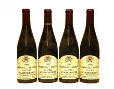 Chambolle-Musigny, 1er Cru, Les Amoureuses, Domaine B. Serveau et Fils, 1998, four bottles