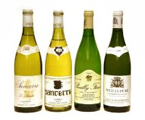 Assorted French White Wine to include: Sancerre, Vacheron, 1984 and three various others