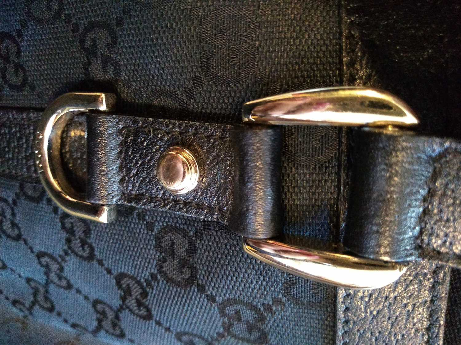 A Gucci black monogrammed canvas medium 'Abbey' tote, - Image 2 of 7