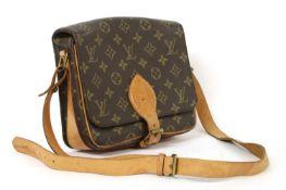 A Louis Vuitton monogrammed canvas 'Cartouchiere' shoulder bag,