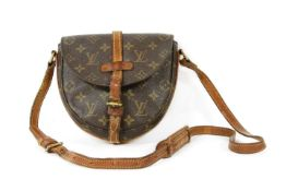 A Louis Vuitton monogrammed canvas crossbody satchel bag,