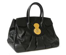 A Ralph Lauren black leather large tote