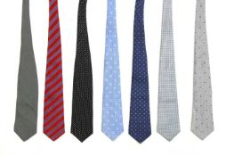 A collection of seven ties