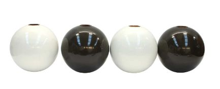 Four spherical vases