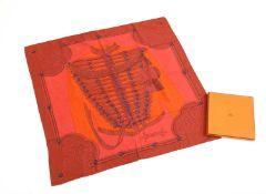 An Hermès silk scarf