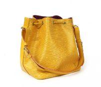 A Louis Vuitton yellow Epi leather 'Noé' shoulder bag,