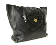 A Mulberry black leather 'Somerset' shopper tote,