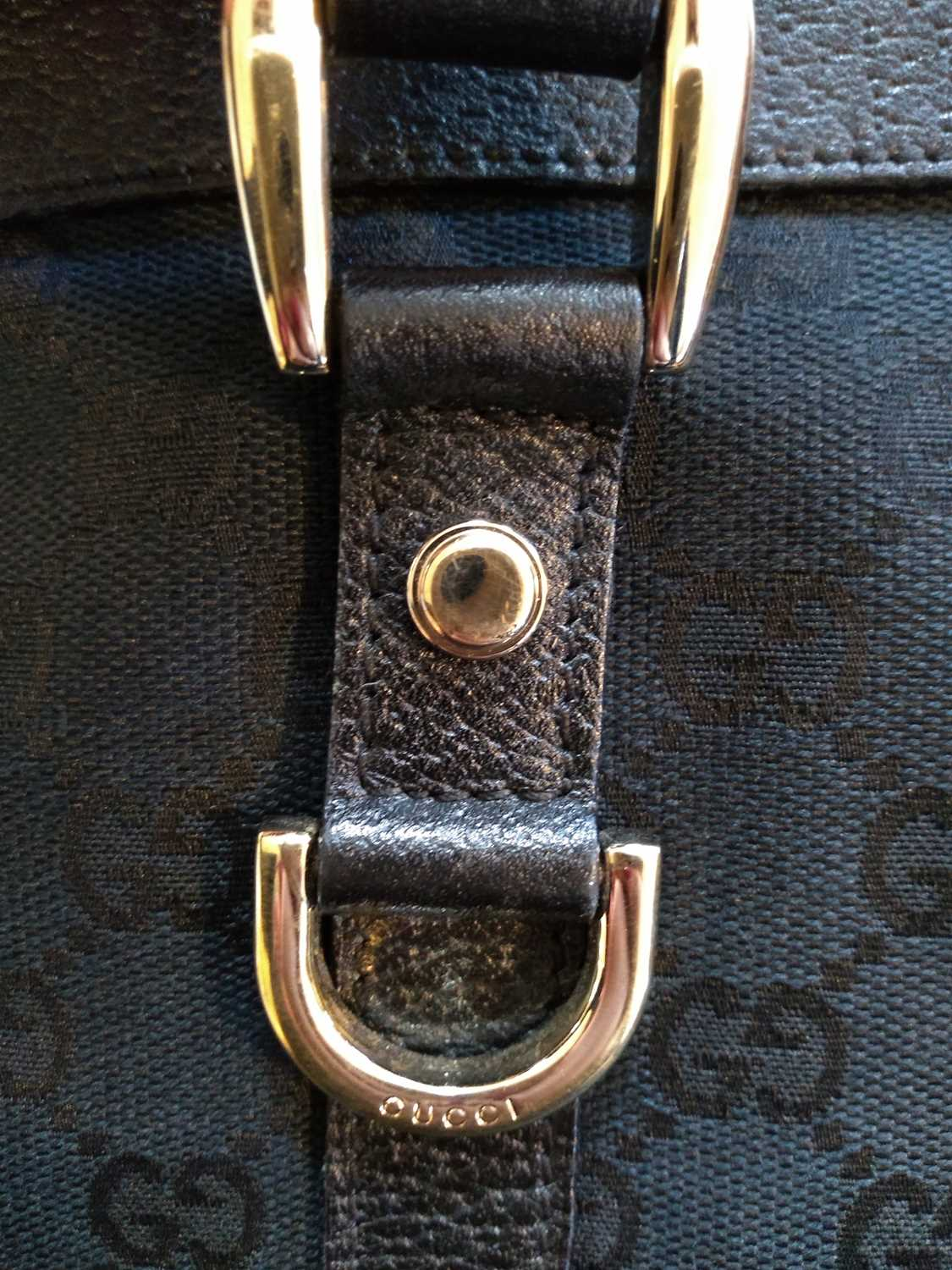 A Gucci black monogrammed canvas medium 'Abbey' tote, - Image 3 of 7