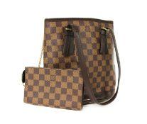 A Louis Vuitton Damier Ebène 'Marais' shoulder bag,