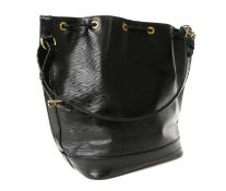 A Louis Vuitton black Epi leather 'Noé' shoulder bag,