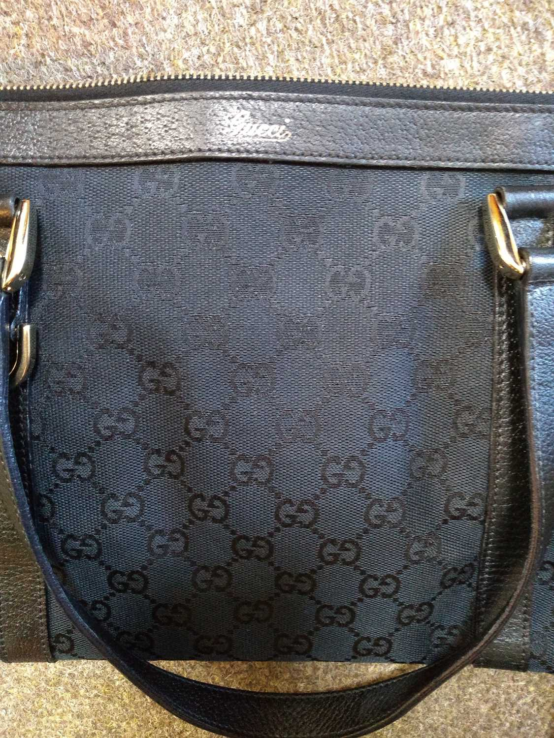 A Gucci black monogrammed canvas medium 'Abbey' tote, - Image 4 of 7