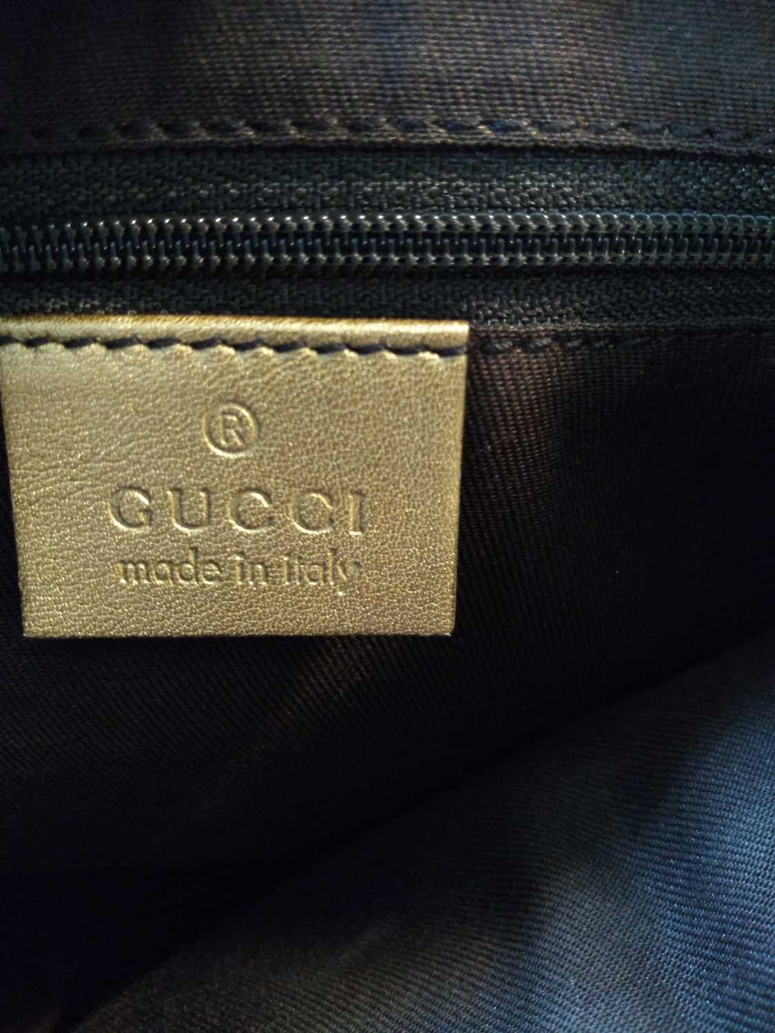 A Gucci gold crystal coated canvas D-ring hobo bag, - Image 3 of 7