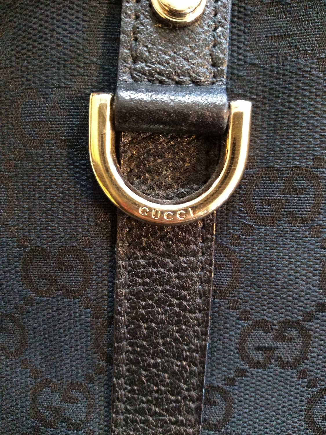A Gucci black monogrammed canvas medium 'Abbey' tote, - Image 5 of 7