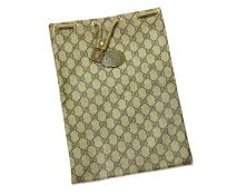 A Gucci Accessory Collection beige canvas drawstring pouch,