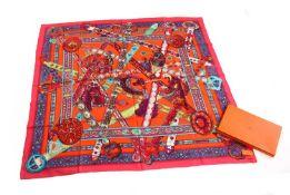 An Hermès large silk scarf