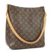 A Louis Vuitton monogrammed canvas 'Looping' shoulder bag,
