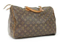 A Louis Vuitton monogrammed canvas 'Speedy 35' bag,