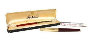 A Parker 61 fountain pen,