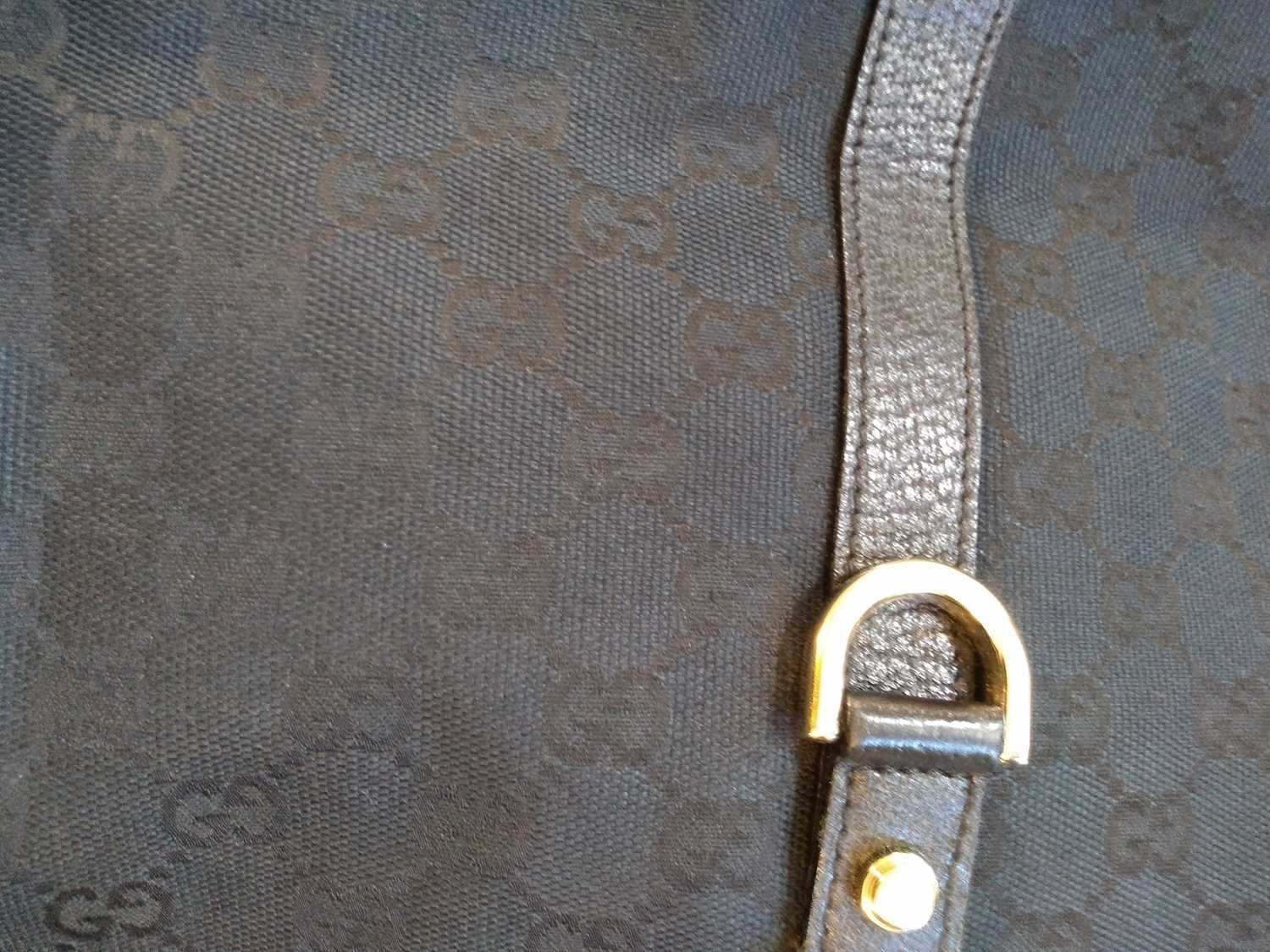 A Gucci black monogrammed canvas medium 'Abbey' tote, - Image 7 of 7