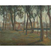 HENRY VALENSI (1883-1960) - VOILIERS À NIEUPORT (NIEUWPOORT), 1912 - Huile sur [...]
