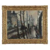 GEN PAUL (1895-1975) - PARIS SOUS LA PLUIE, VERS 1922 - Huile sur toile - Signée [...]