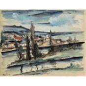 MAURICE DE VLAMINCK (1876-1958) - PAYSAGE, VERS 1920-1922 - Encre, aquarelle et [...]