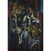 GEORGES ARTEMOFF (1892-1965) - PORTEUSES D'EAU, VERS 1960 - Huile sur panneau - [...]