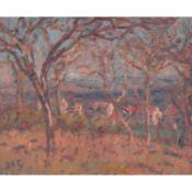GEORGES D'ESPAGNAT (1870-1950) - PAYSAGE, VERS 1904 - Huile sur toile - Signée [...]