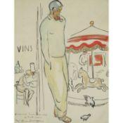 KEES VAN DONGEN (1877-1968) - VAN DONGEN AU CARROUSEL, AUTOPORTRAIT, VERS 1920 - [...]
