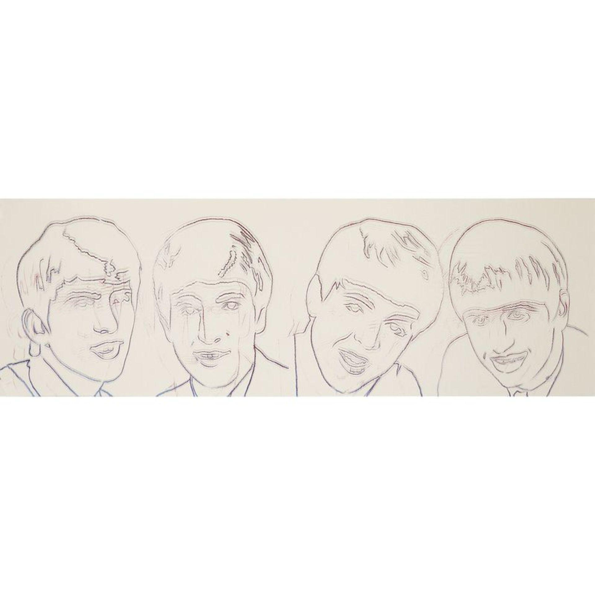 ANDY WARHOL (1928-1987) - THE BEATLES, 1980 - Sérigraphie sur acétate - [...]
