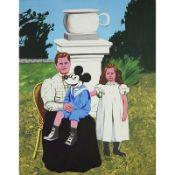 BERNARD RANCILLAC (né en 1931) - LA MAMAN DE MICKEY, 2013 - Acrylique sur toile - [...]