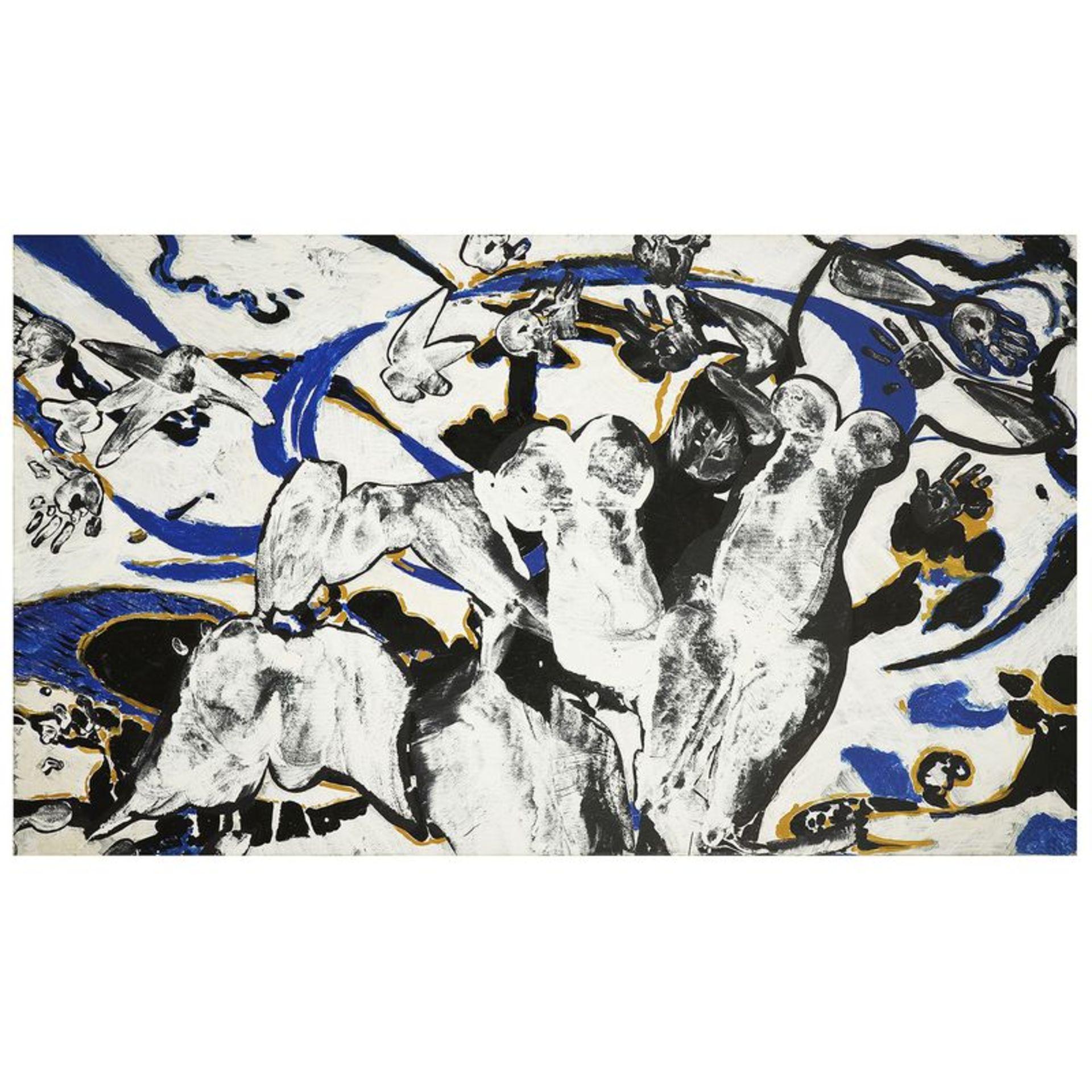 FRANÇOIS ROUAN (né en 1943) - Sans titre, 1995 - Deux peintures à la cire sur [...]
