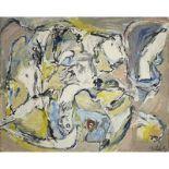 PIERRE ALECHINSKY (né en 1927) - L'œil brun, 1959 - Huile sur toile - Signé [...]