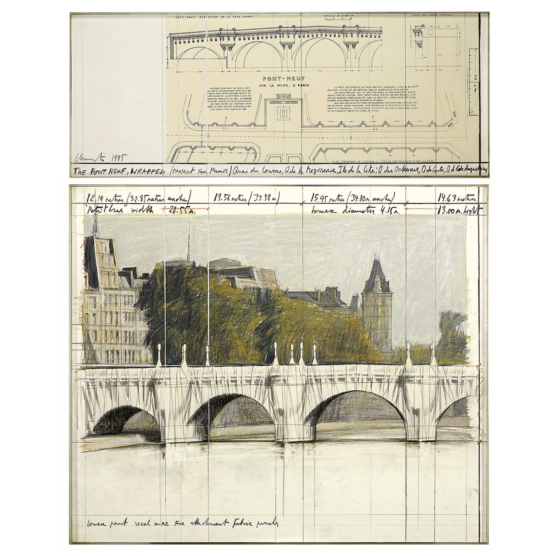 CHRISTO (1935-2020) et JEANNE-CLAUDE (1935-2008) - The Pont Neuf, Wrapped (Project [...] - Image 3 of 5
