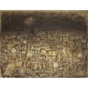 KEY SATO (1906-1978) - Prisme de la terre, 1962 - Huile sur toile - Signé et [...]