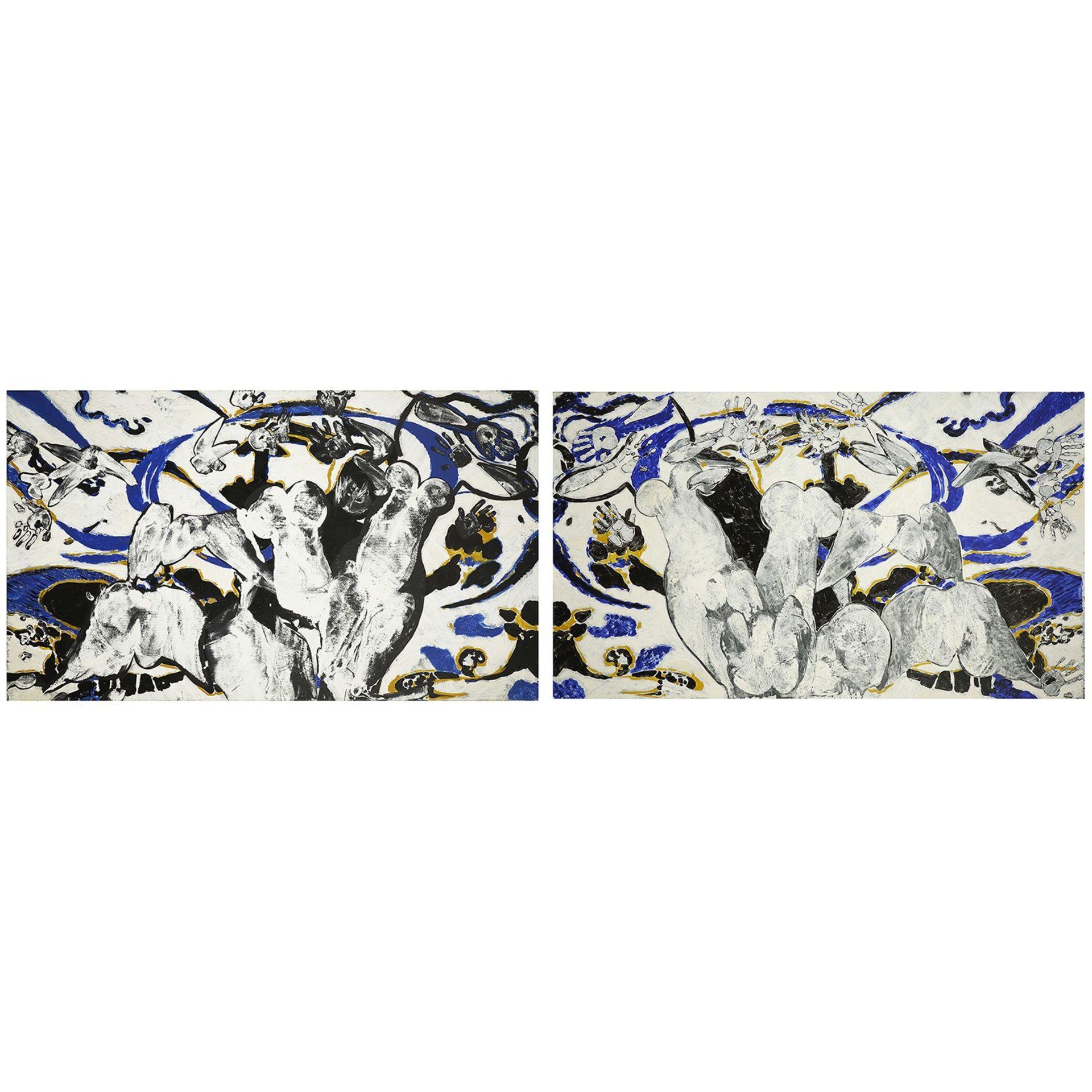 FRANÇOIS ROUAN (né en 1943) - Sans titre, 1995 - Deux peintures à la cire sur [...] - Image 3 of 5