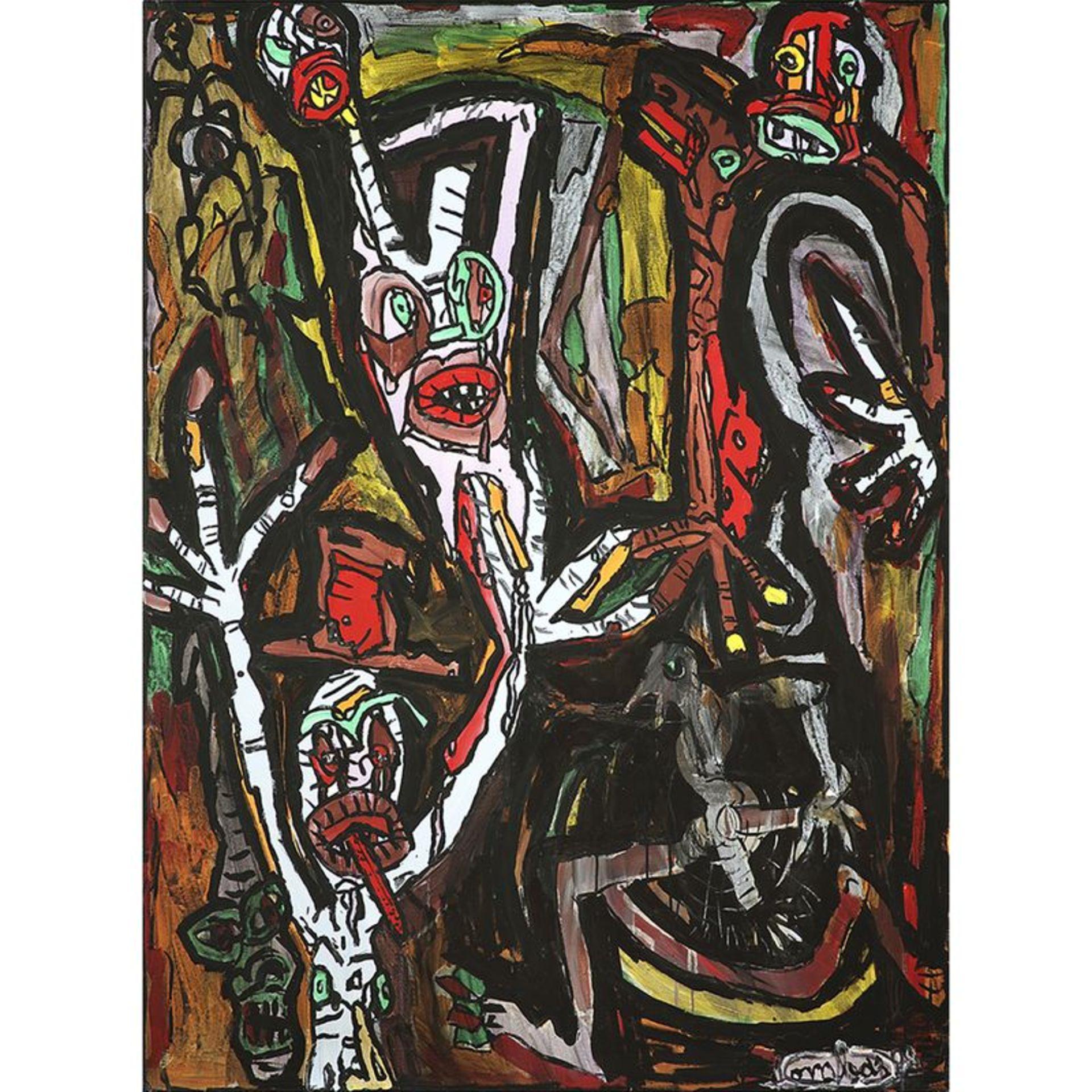 ROBERT COMBAS (né en 1957) - Sans titre, 1988 - Acrylique sur toile - Signé et [...]