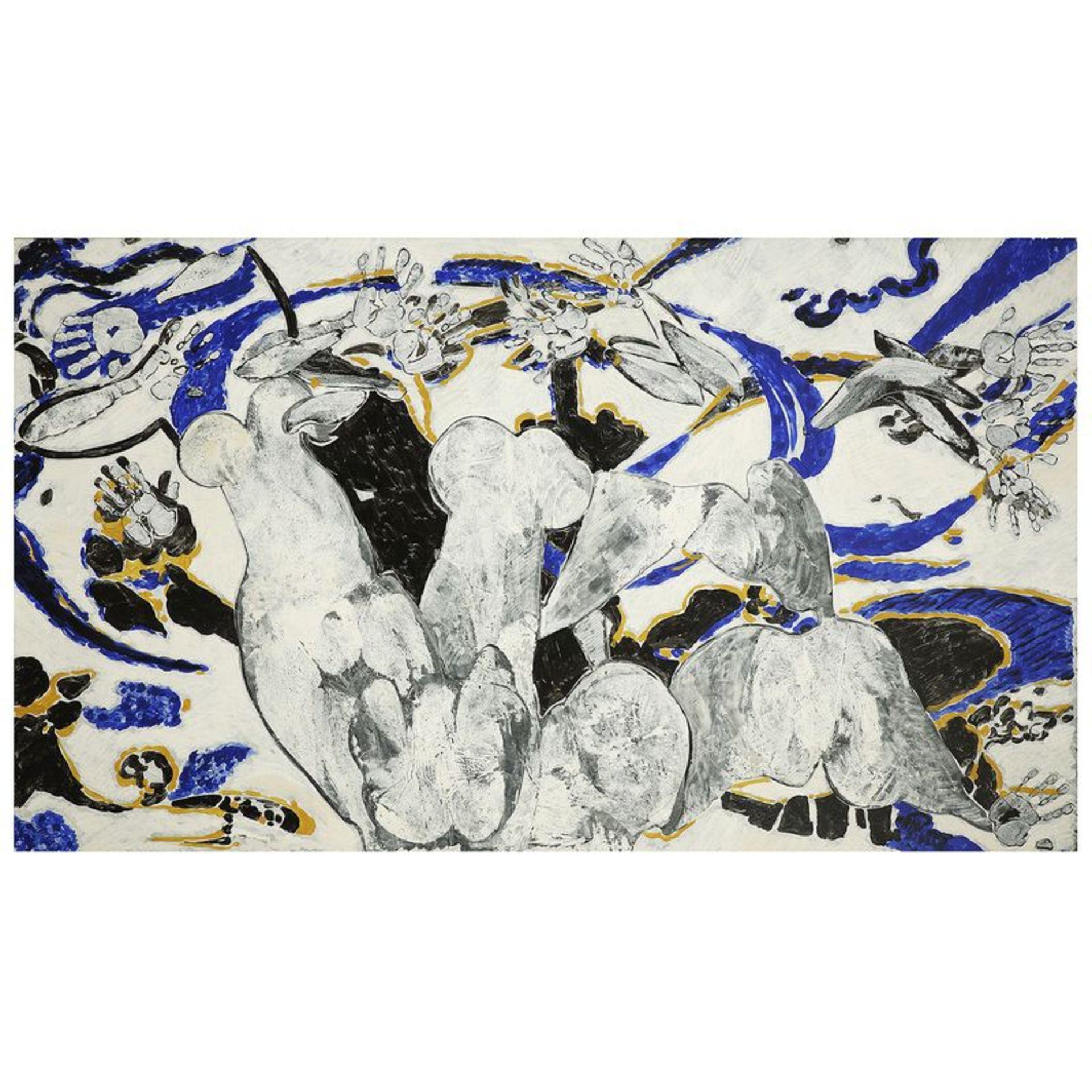 FRANÇOIS ROUAN (né en 1943) - Sans titre, 1995 - Deux peintures à la cire sur [...] - Image 2 of 5
