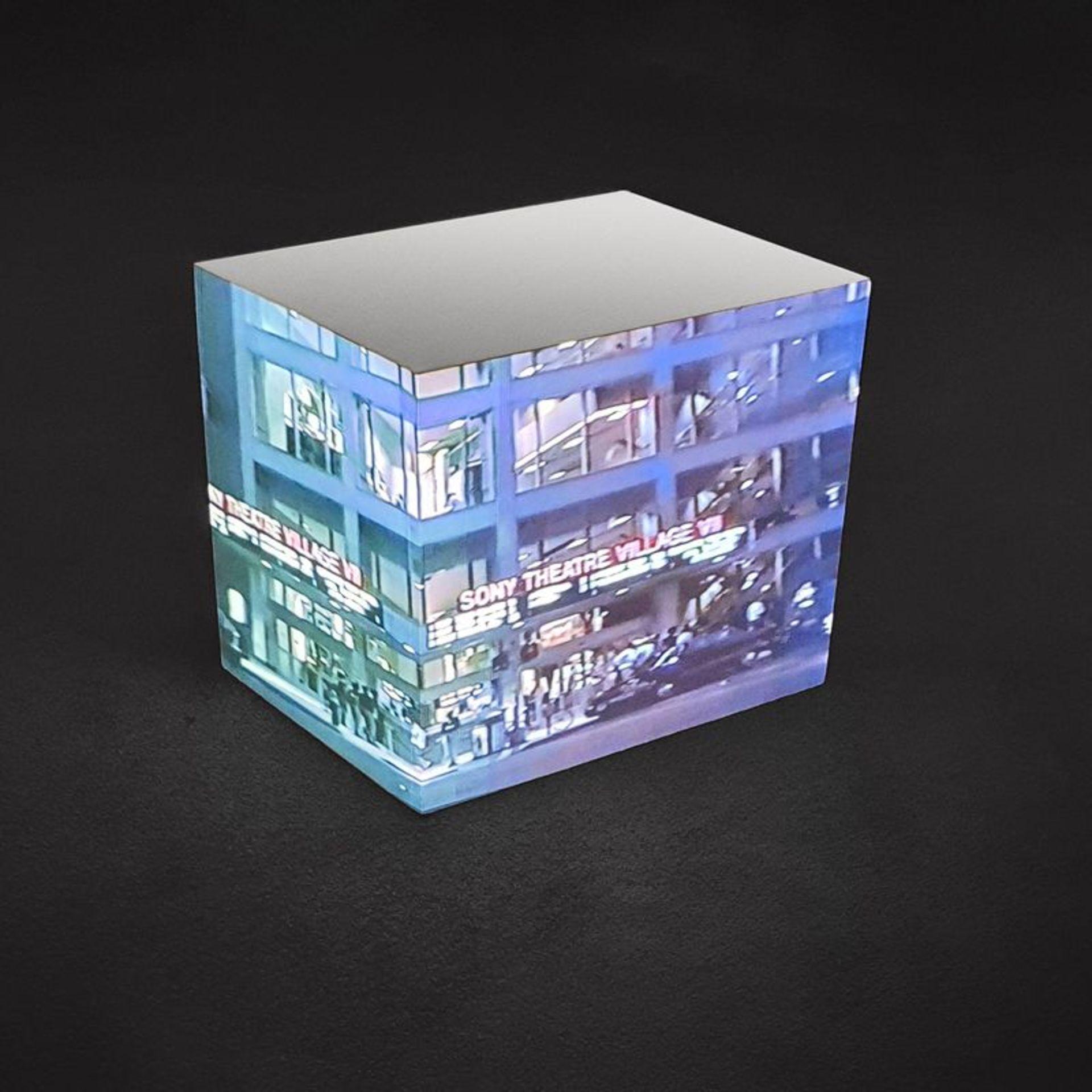 Tony Oursler (né en 1957) - Sony movie block, 1994 - Projection vidéo sur cube en [...]