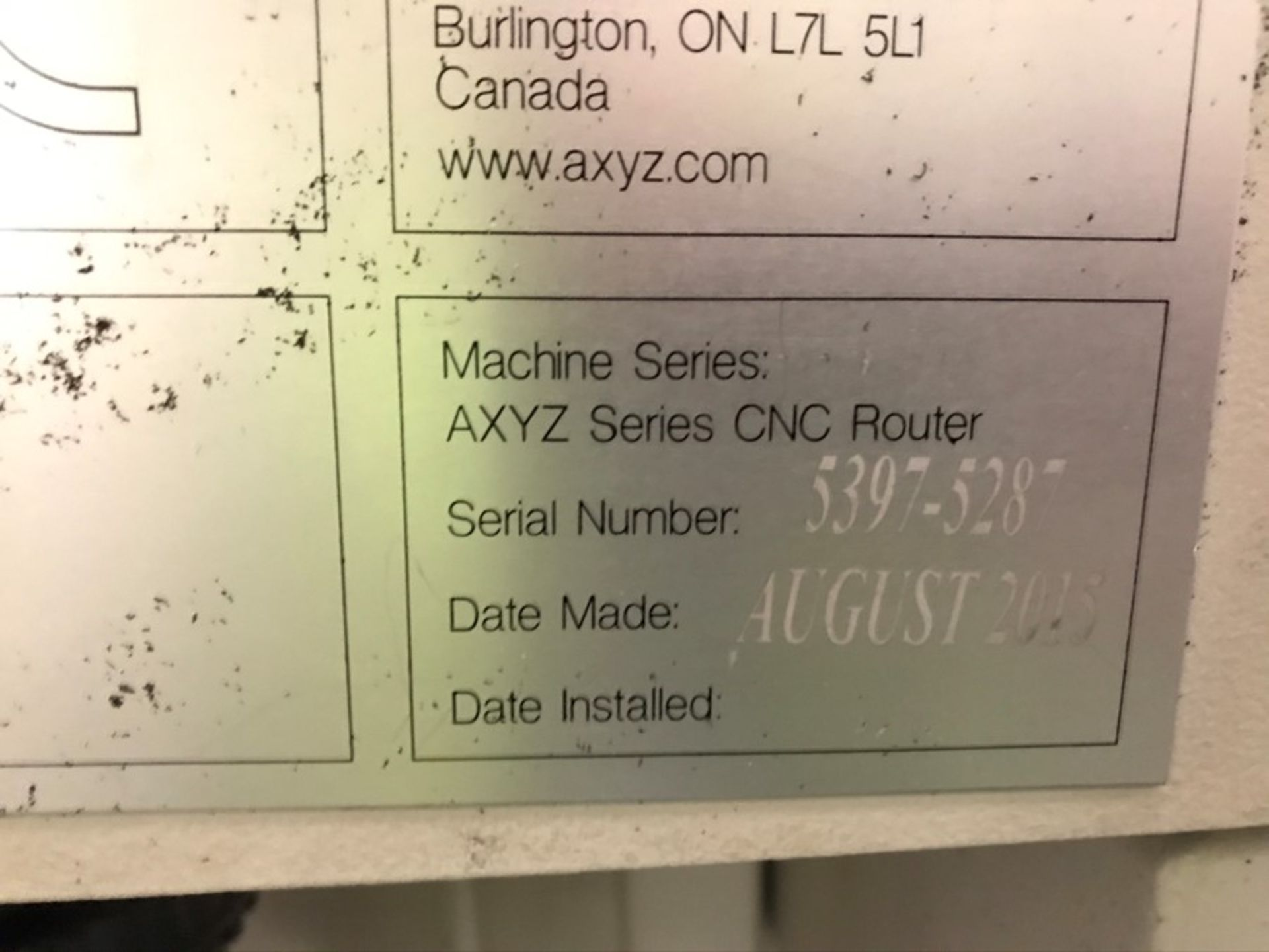 AXYZ 6010 ATC 7G CNC router (2015) - Image 3 of 20