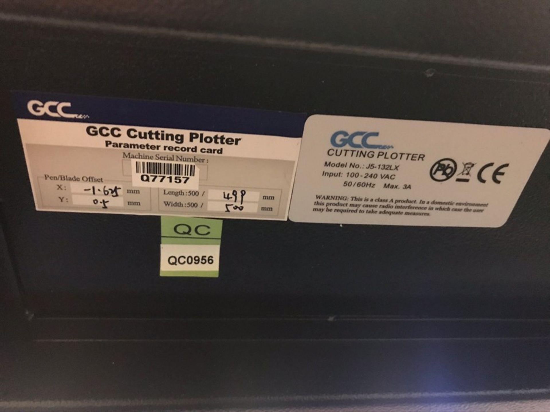 GCC Jaguar J5-12LX vinyl cutting plotter - Image 5 of 5