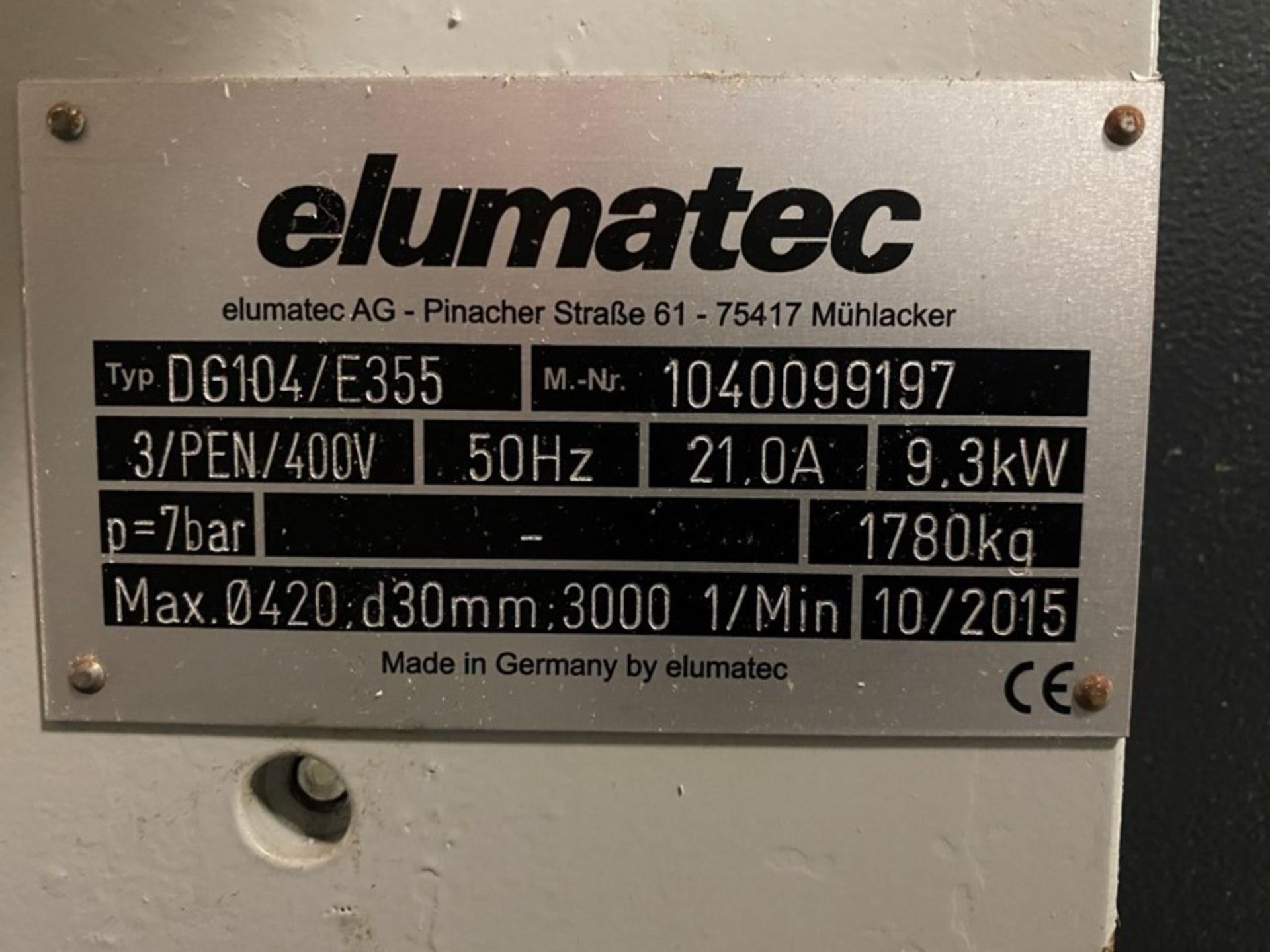 Elumatec DG104 / E355 6m double mitre saw (2015) - Image 16 of 20