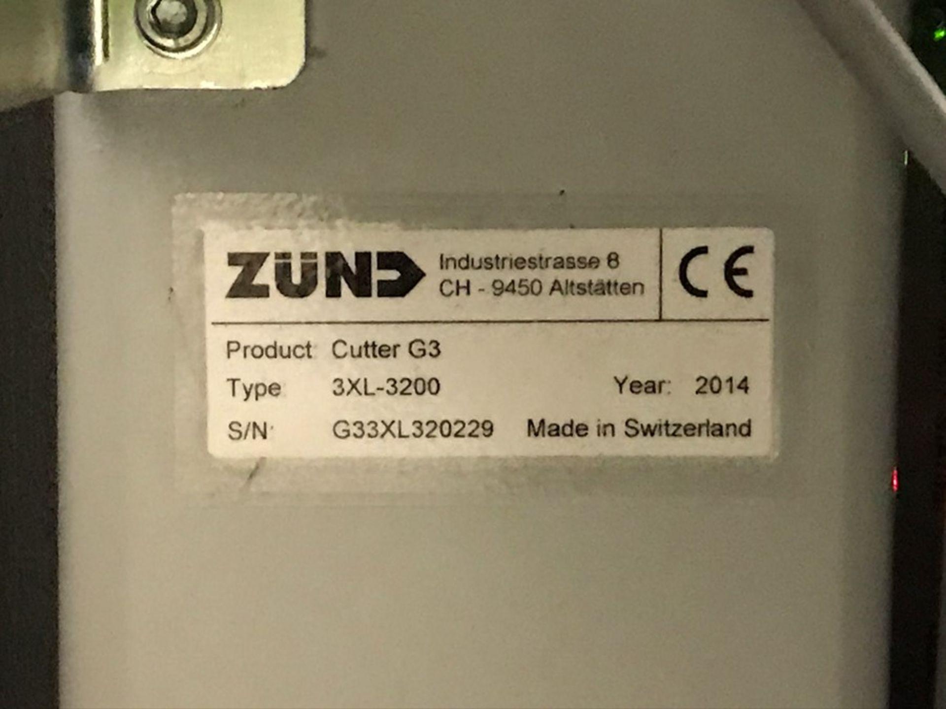 Zund G3 3XL-3200CV digital cutter (2014) - Image 3 of 37