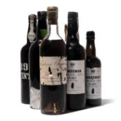 5 bottles and 2 half-bottles Mixed Port and Sauternes